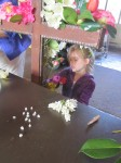 Even the children helped put flowers on the crosses!
