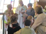 Many children joined Pastor Julie for her Children's Message on Easter